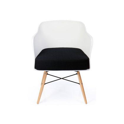 Cadeira | Contemporânea | Elegante | Branca | Frente | E.CAD-15