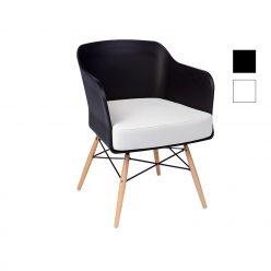 Cadeira | Contemporânea | Elegante | Preta | Perfil | E.CAD-15