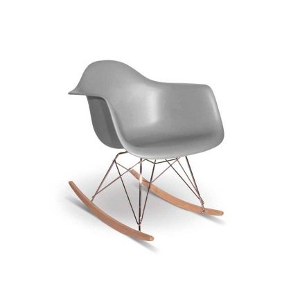 Cadeira de Baloiço | Preta | Cinza Claro | E.CAD-4