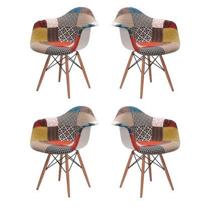 Cadeiras | Conjunto de 4 | Contemporâneas | Quarto | E.CAD-2P