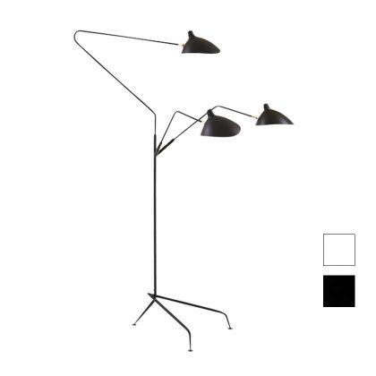 Candeeiro de Pé | Iluminação | 3 Lâmpadas | Base em Tripé | Preto | IC-CND-11