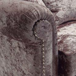 Sofás Modernos | Veludo Castanho Contemporâneo | Braço | E.SFA - 3
