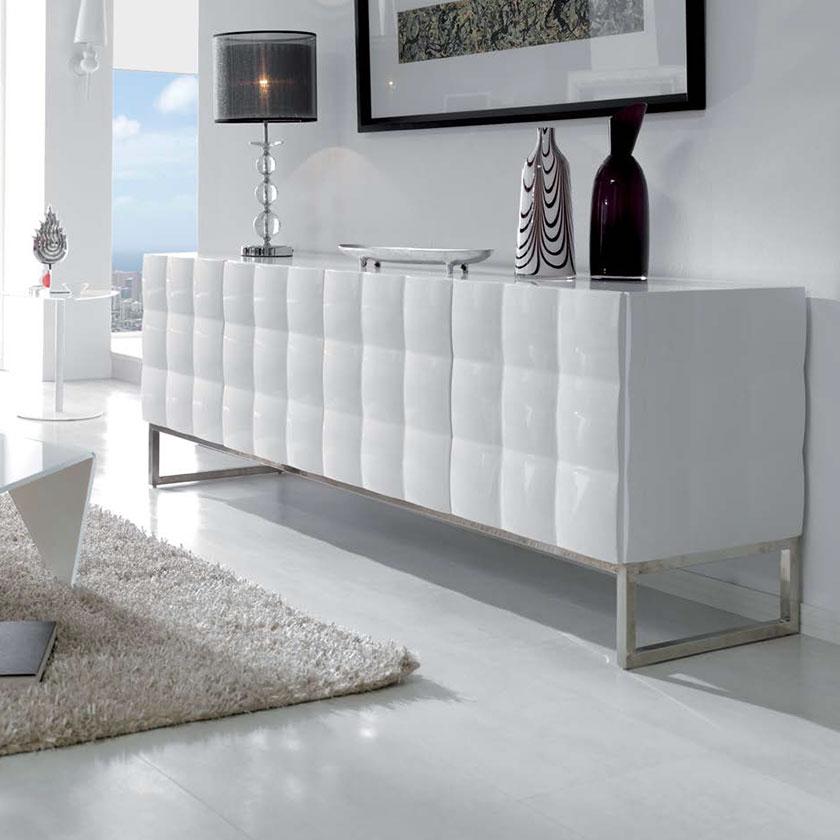 Aparador design moderno quatro portas j apr 3 iluti for Sala design moderno