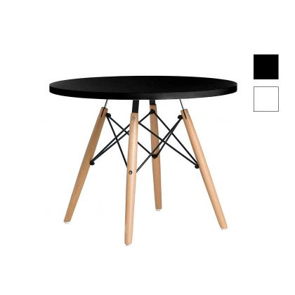 Mesa de Centro | Sala De Estar | Mesa De Centro Redonda | Design Original | Preta | Canto | E.MSA-32