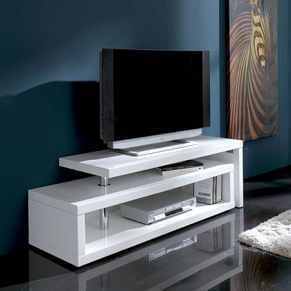 Móvel TV | Branco Art Déco | Sala De Estar | E.MTV - 2