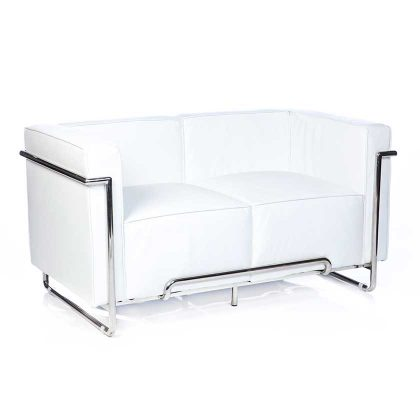 Sofá 2 Lugares | Sofás Modernos | Retro Luxo | Branco | Canto | E.SFA-33