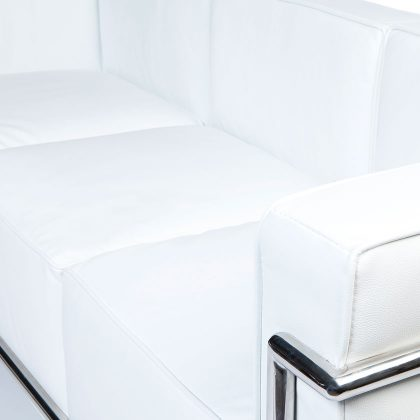 Sofá 3 Lugares | Sofás Retro Luxo | Branco | Braço | E.SFA - 35