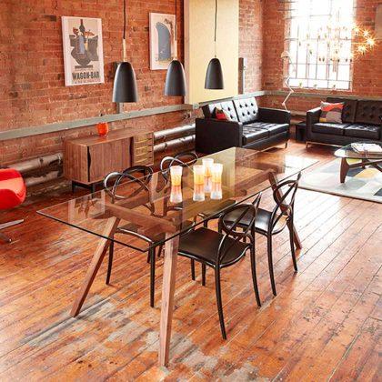 Cadeira De Jantar | Sala De Jantar | Escultural | Preta | Ambiente | J.CDA-1