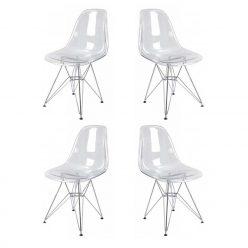 Cadeira | Contemporâneo Clássico | Conjunto de Quatro | J.CDA-38P