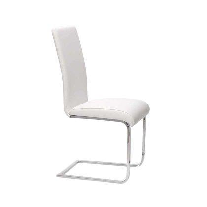 Cadeira De Jantar Branca | Sala De Jantar | Design Simplista | J.CDA-12