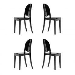 Cadeiras Design | Conjunto De 4| Preta | J.CDA-21P