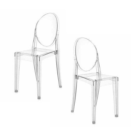 Cadeira De Jantar | Design | Conjunto de Duas | Canto | J.CDA-19
