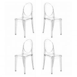 Cadeira De Jantar | Design | Conjunto de Quatro | Canto | J.CDA-19P