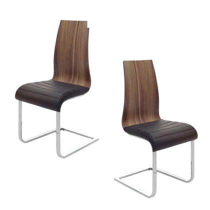 Cadeira De Jantar | Design Elegante | Conjunto de 2 | J.CDA-33