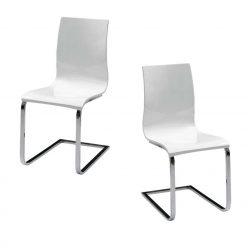 Cadeira De Jantar | Design Sóbrio | Conjunto de 2 | J.CDA-32