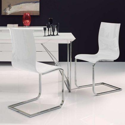 Cadeira De Jantar | Design Sóbrio | Conjunto de 2 | Ambiente | J.CDA-32