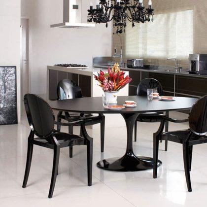 Cadeira De Jantar | Preta | Sala De Jantar | J.CDA-20