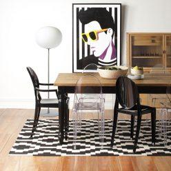 Cadeira De Jantar | Conjunto de 2 | Preta | Sala De Jantar | J.CDA-21