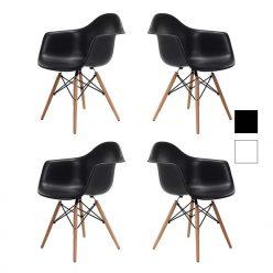 Cadeira De Jantar | Sala De Jantar Contemporânea | Conjunto de 4 | J.CDA-36P