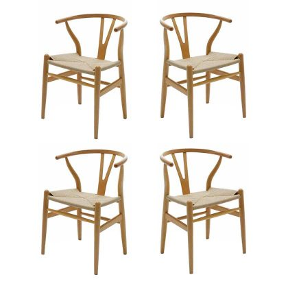 Cadeira De Jantar | Sala De Jantar | Design Escandinavo| Conjunto 4 | Canto | J.CDA-24P