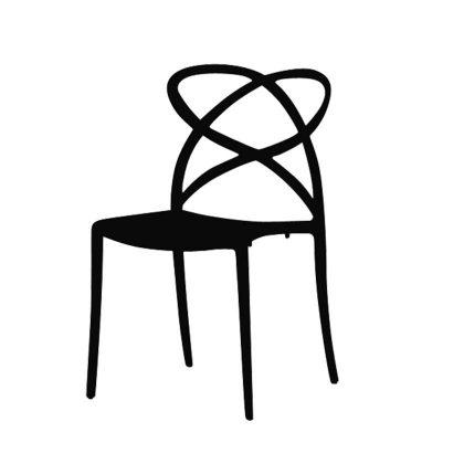 Cadeira De Jantar | Sala De Jantar | Escultural | Preta | Canto | J.CDA-1