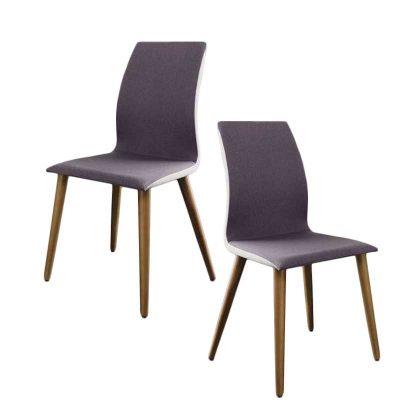Cadeira De Jantar | Sala De Jantar | Estilo Escandinavo | Conjunto 2 | Canto | J.CDA-22