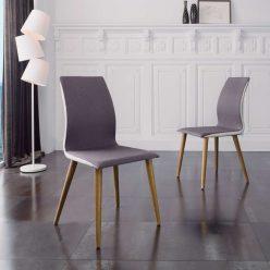 Cadeira De Jantar | Sala De Jantar | Estilo Escandinavo | Conjunto 2 | Ambiente | J.CDA-22