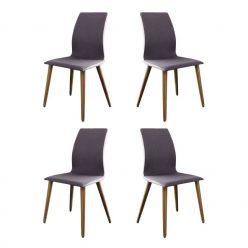 Cadeira De Jantar | Sala De Jantar | Estilo Escandinavo | Conjunto 4 | Canto | J.CDA-22P