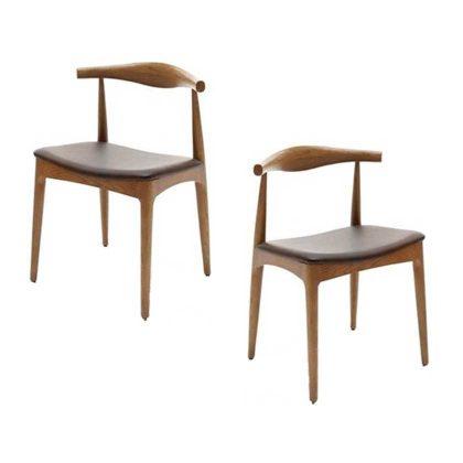 Cadeira De Jantar | Sala De Jantar Estilo Vintage | Conjunto de 2 | Canto | J.CDA-23