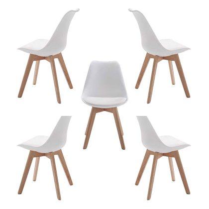 Cadeira De Jantar | Vanguardista | Sala De Jantar | Conjunto De Cinco | J.CDA-14P