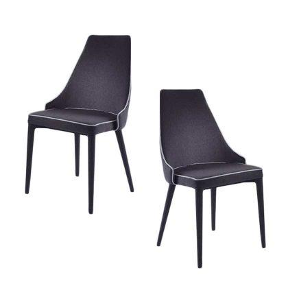 Cadeira Para Sala De Jantar | Estilo Contemporâneo | Conjunto 2 | Canto | J.CDA-26