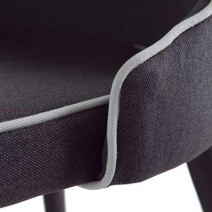 Cadeira Para Sala De Jantar | Estilo Contemporâneo | Conjunto 2 | Tecido | J.CDA-26