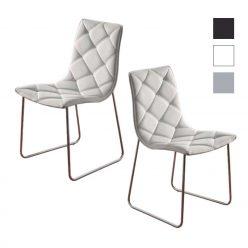 Cadeira | Sala De Jantar | Cadeiras Modernas | Design Intemporal | Conjunto De Duas | J.CDA-8