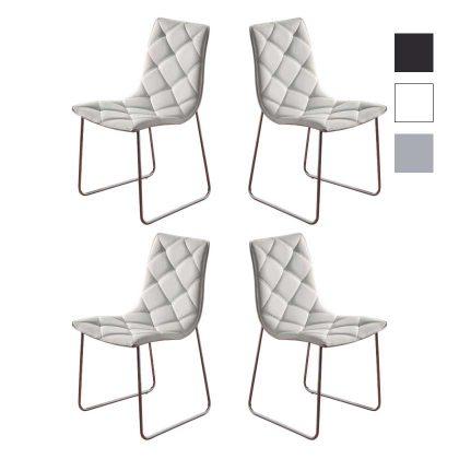 Cadeira | Sala De Jantar | Cadeiras Modernas | Design Intemporal | Conjunto De Quatro | J.CDA-8