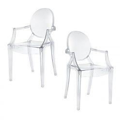 Cadeiras De Jantar | Mesas De Jantar | Design | Conjunto 2 | Com Braços | Canto | J.CDA-18