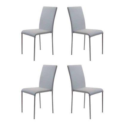 Cadeiras Para Mesa De Jantar | Design Intemporal | Conjunto 4 Cinzentas | J.CDA-5P