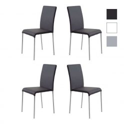 Cadeiras Para Mesa De Jantar | Design Intemporal | Conjunto 4 Pretas | J.CDA-3P
