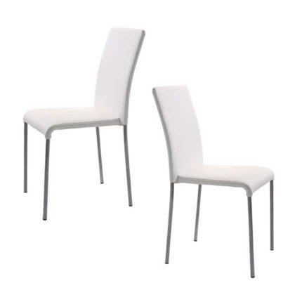 Cadeiras Para Sala De Jantar | Brancas | Design Intemporal | Conjunto 2 | J.CDA-4