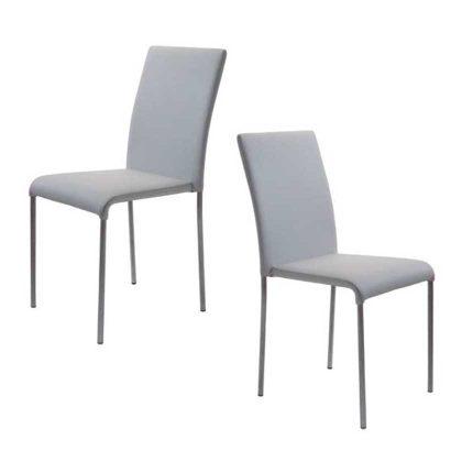 Cadeiras Para Sala De Jantar | Cinzas | Design Intemporal | Conjunto 2 | J.CDA-5