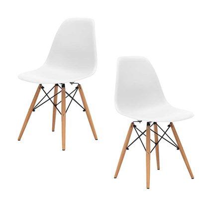 Cadeiras Para Sala De Jantar | Clássico Design | Conjunto de 2 | Brancas | J.CDA-35