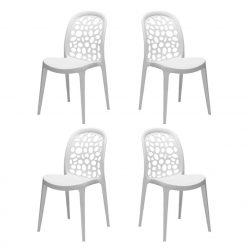 Cadeiras Para Sala De Jantar | Design Original | Conjunto De 4 | J.CDA-16P