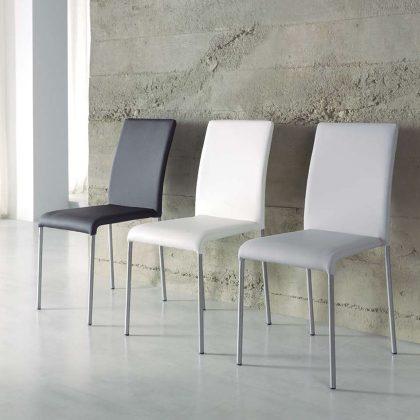 Cadeiras Para Sala De Jantar | Branca | Preta | Cinza | Design Intemporal | Conjunto 2 | J.CDA-3-4-5