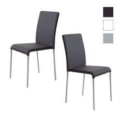 Cadeiras Para Sala De Jantar | Pretas | Design Intemporal | Conjunto 2 | J.CDA-3
