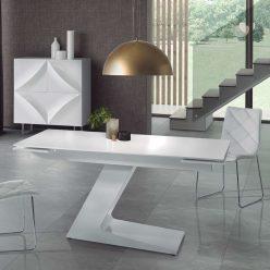 Mesa De Jantar Extensível | Glamour | Lateral | J.MSA-2