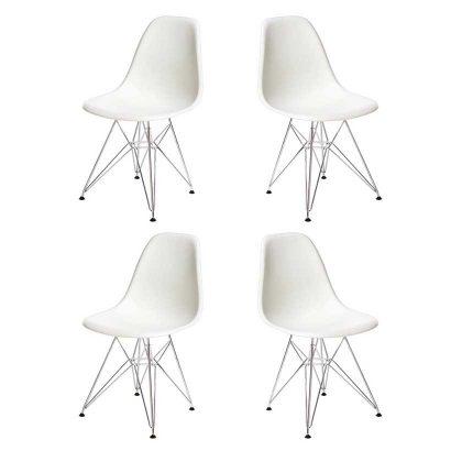 Cadeira | Clássico Contemporâneo | Conjunto de Quatro | J.CDA-39P