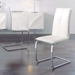 Cadeira | Sala De Jantar | Cadeiras Modernas Brancas | Contemporânea | Conjunto de Duas | J.CDA-6