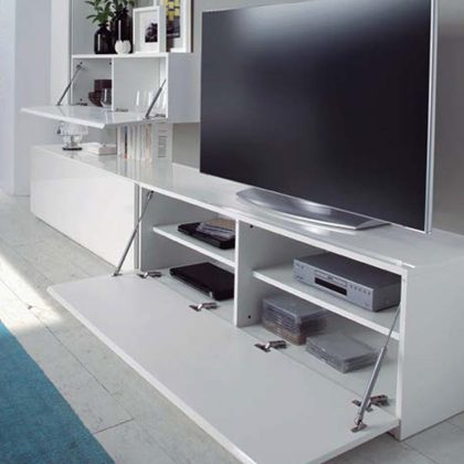 Móvel TV | Visual Minimalista | Gavetas Abertas | E.CMO-1